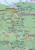 Surinam & French Guiana Travel Ref. map